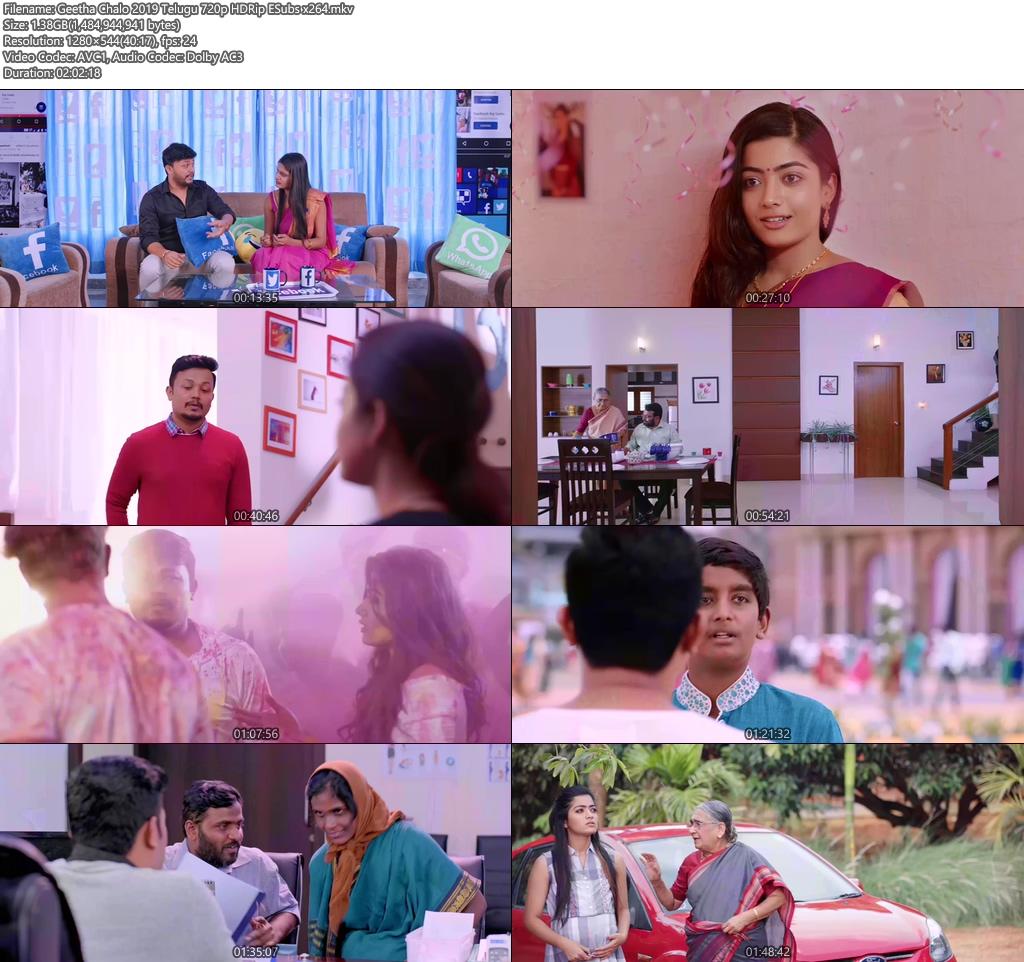 Geetha Chalo 2019 Telugu 720p HDRip ESubs x264 | 480p 300MB | 100MB HEVC Screenshot
