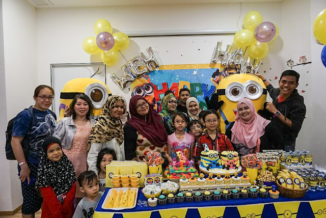The Parenthood Playland, Sunway Putra Mall, theme birthday party, minion birthday party, nerf gun, The Parenthood Playland Theme Birthday Party, Lilipili cafe, minions cake,