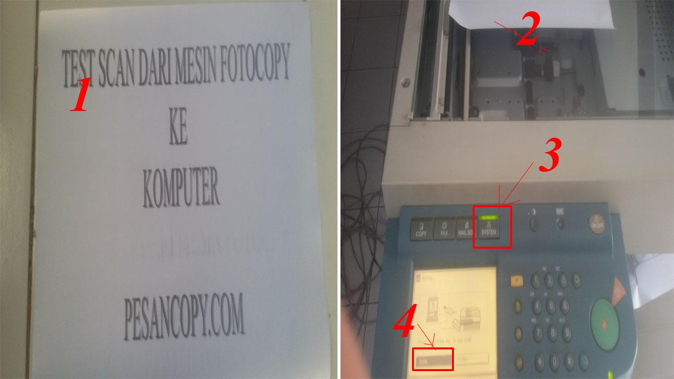Langkah-langkah detail cara Scan dari mesin fotocopy ke komputer ...