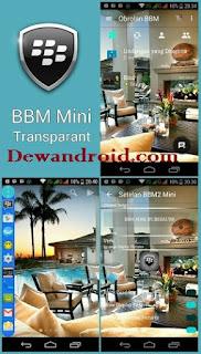 BBM2 Mod Mini Transparan 2.10.0.31 Versi Clone + No Root