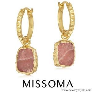 Kate Middleton wore Missoma gold pyramid charm earrings