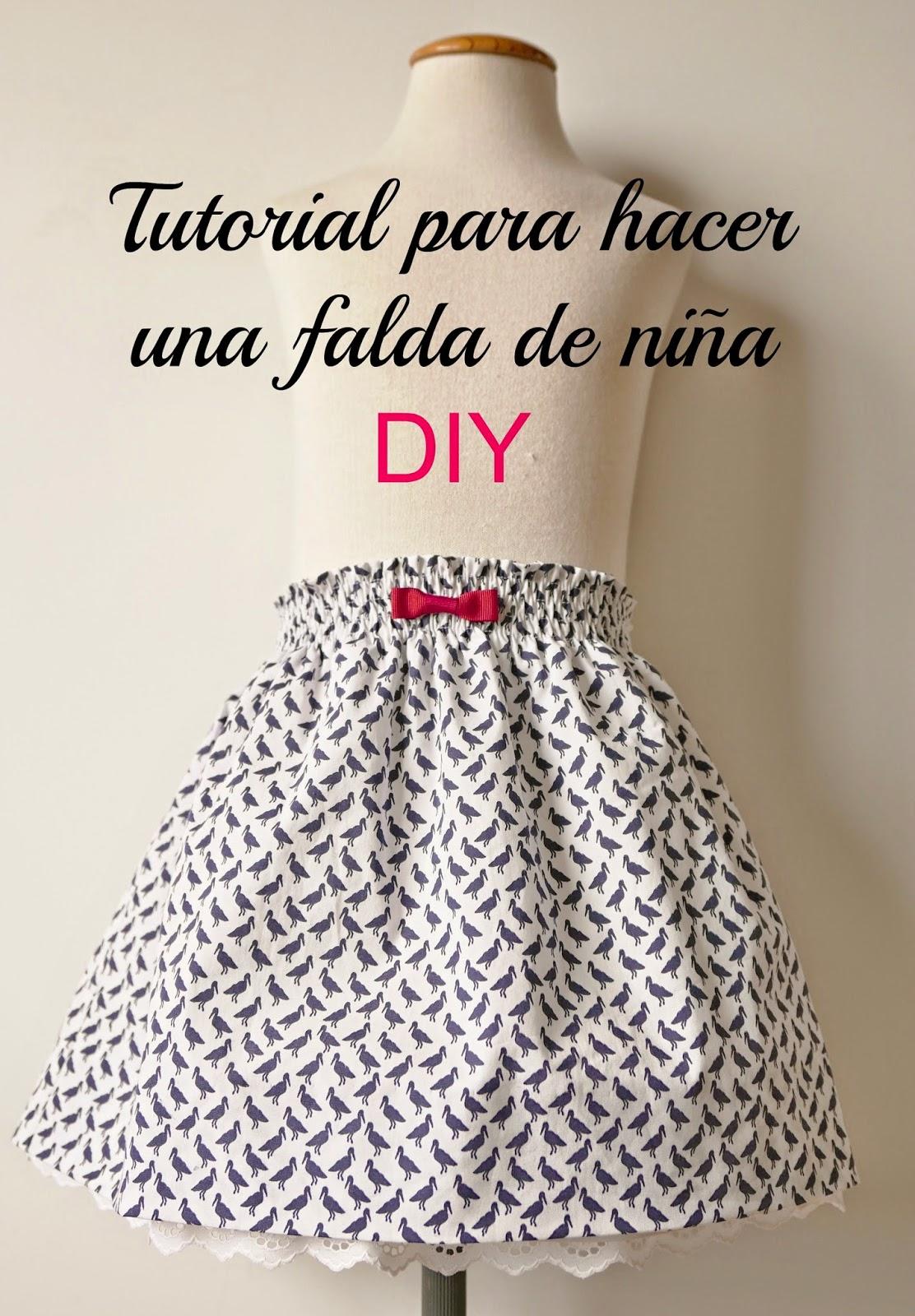 decc0f6ab Cómo hacer (tutorial) y esquema patrón gratis para una falda de niña ...