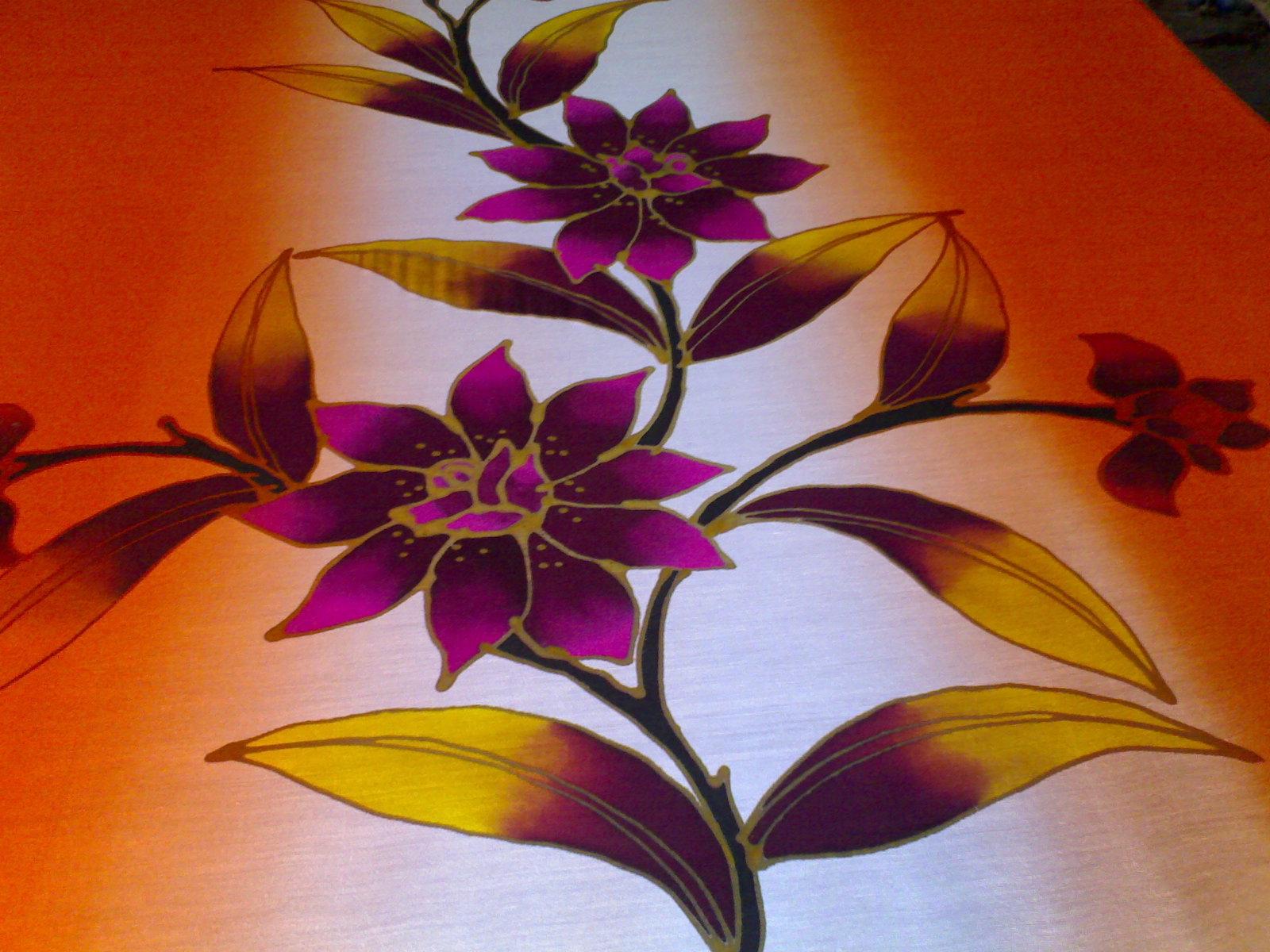 Orkid merupakan bunga kebangsaan negara singapura. perusahaan batik tradisional kelantan: batik kelantan