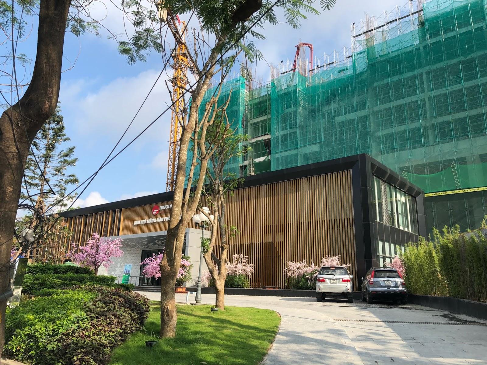 Hình ảnh tiến độ thi công dự án Hinode City T5/2018