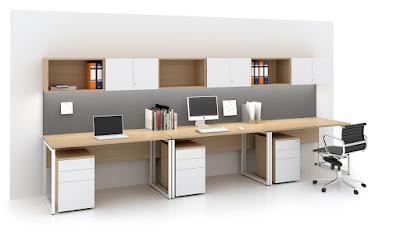 Vách ngăn bàn làm việc cho văn phòng hiện đại
