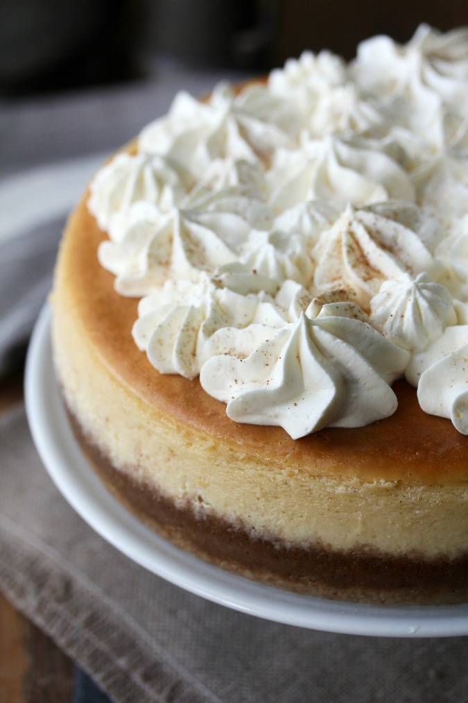 Egg Nog Cheesecake