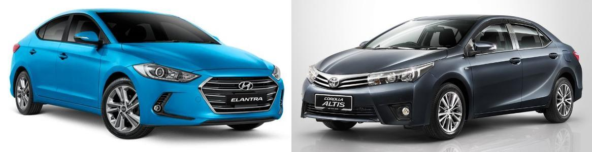 New Corolla Altis Vs Elantra Harga Grand Avanza Matic Hyundai Toyota Comparison The Petrol Looks Promising On Paper It Puts Out More Power And Torque Than S Mill But In Reality Age Old
