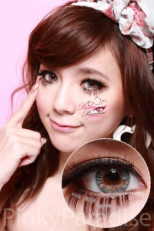 Vassen Rainbow Eyes Grayish Blue Circle Lenses (Colored Contacts)