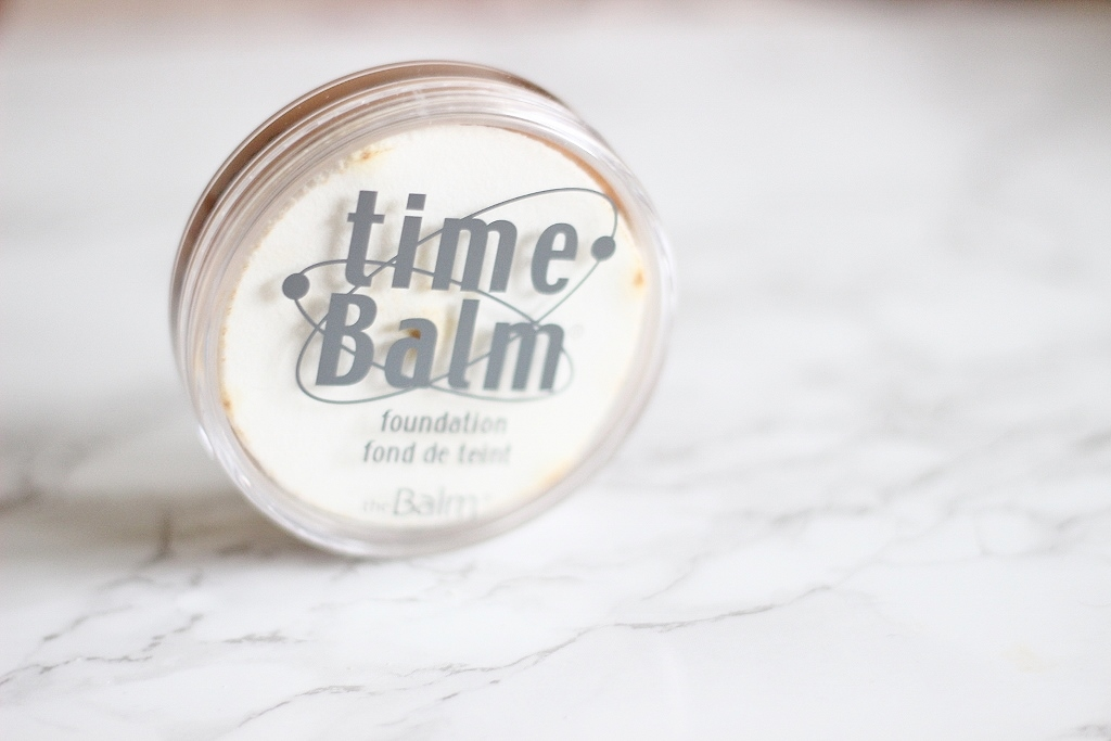 the balm balm time foundation in mediumdeep review swatch