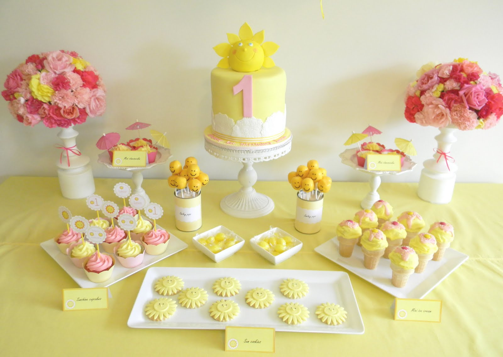 Pink Lemonade Themed Birthday Cake