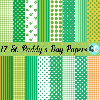 St. Patrick's Day Paper. Super cute and perfect for your teacher products or for your classroom. Also includes a free set of monsters.#stpatricksday #stpatricksdayclipart #freeclipart #gradeonederful
