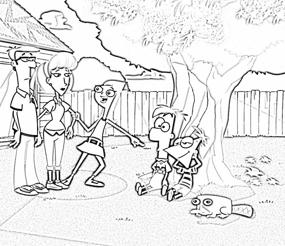 Desenhos Do Phineas E Ferb Para Colorir E Imprimir
