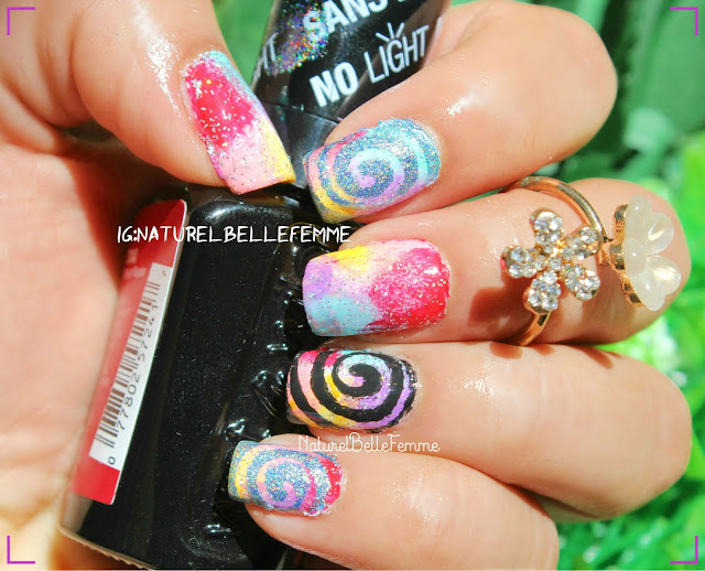 Spiral nail vinyls manicure