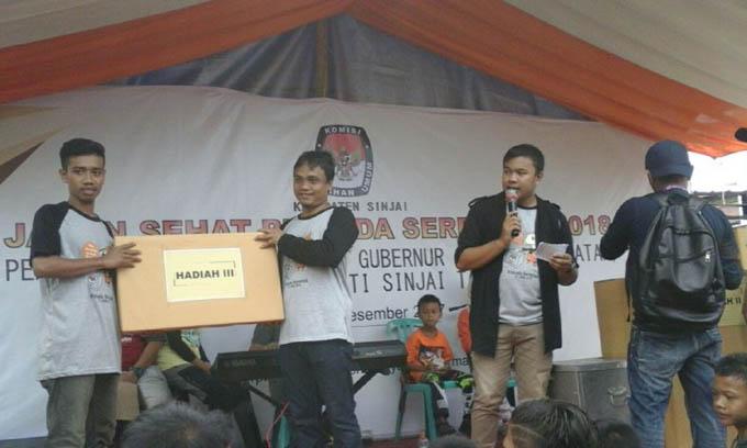 Jalan Sehat Pilkada Serentak KPU Sinjai Berlangsung Meriah