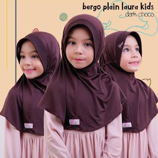 jilbab anak miulan bpl kids dark choco