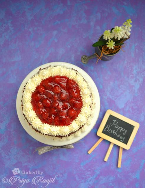 Black Forest Cheesecake Cake Recipe