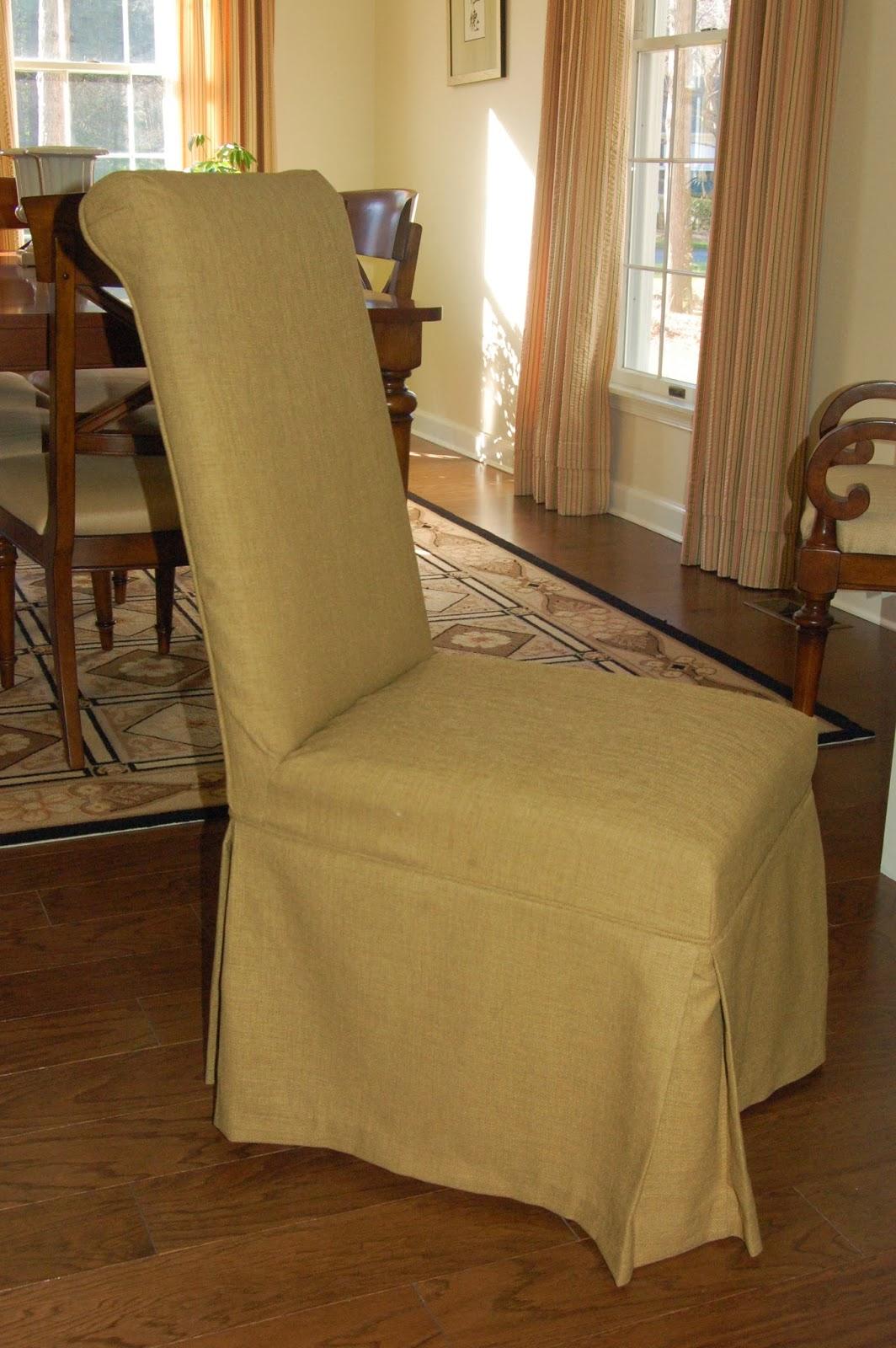 Burlap Dining Chair Covers Yellow Fabric Desk Pam Morris Sews Slipcovers