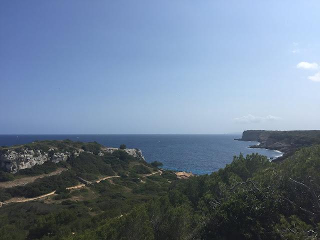 Acesso à praia Caló des Moro, Mallorca.