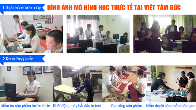 Mô hình học tập tại khóa học thiết kế đồ họa ngắn hạn uy tín chất lượng tại Mê Linh