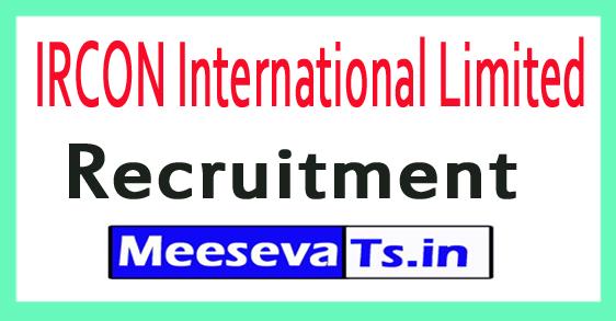 IRCON International Limited IRCON Recruitment Notification