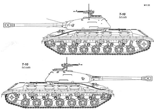Общий вид танка Т-10