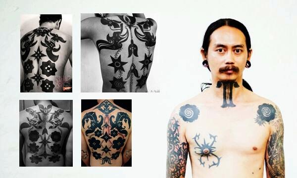 tradisi tato dayak