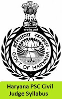 Haryana PSC Civil Judge Syllabus