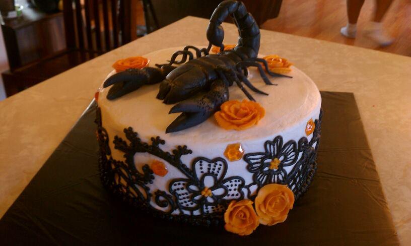 The Cake Bowtique Creative Cakes Gallery A Scorpio