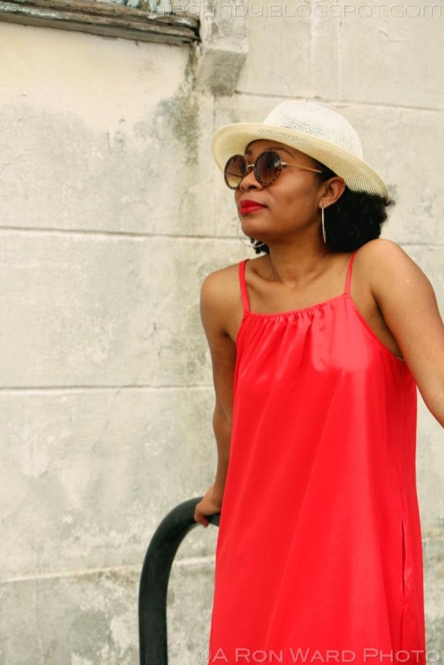 red maxi dress adding pockets diystyle fashion sewing
