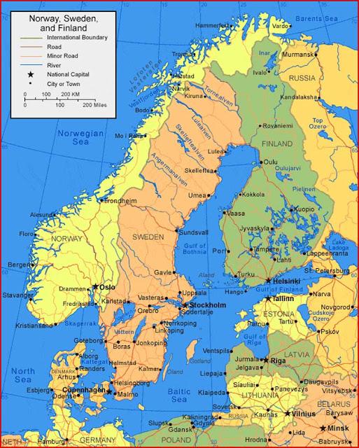 Gambar Peta Swedia