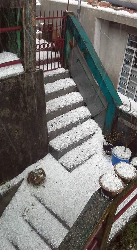 Hailstone in Darjeeling 11