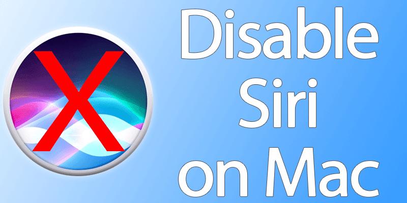 disable siri on mac