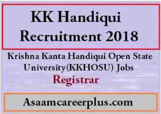 Jobs KK Handiqui recruitment 2018
