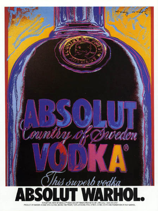 Absolut Warhol advertising 1986