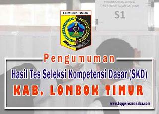 Hasil Seleksi Kompetensi Dasar (SKD) Kabupaten Lombok Timur