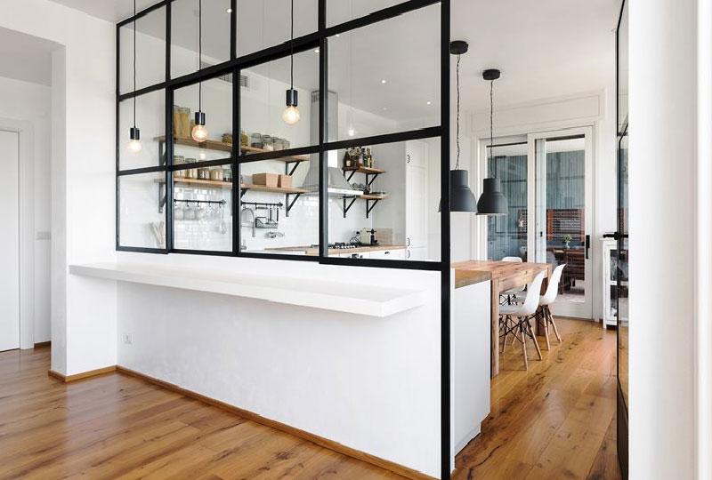 parete ferro e vetro - appartamento SD by Nomade Architettura