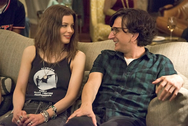 image of Gillian Jacobs and Paul Rust looking at each other from a scene in 'Love'