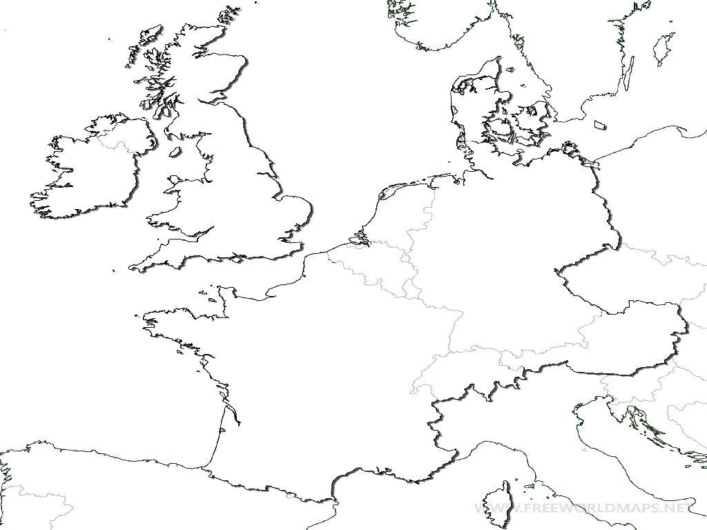 blank map western europe