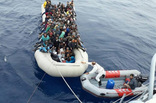 Photos: 475 illegal migrants including Nigerians en route to EU intercepted by Libyan Coast Guard