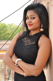 Actress Pentali Sen Stills in Black Lace Dress at Golmal Gullu Movie Pressmeet  0054.JPG