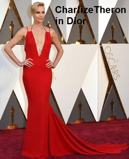 Charlize%2BTheron%2Bin%2BDior - Look Óscares 2016