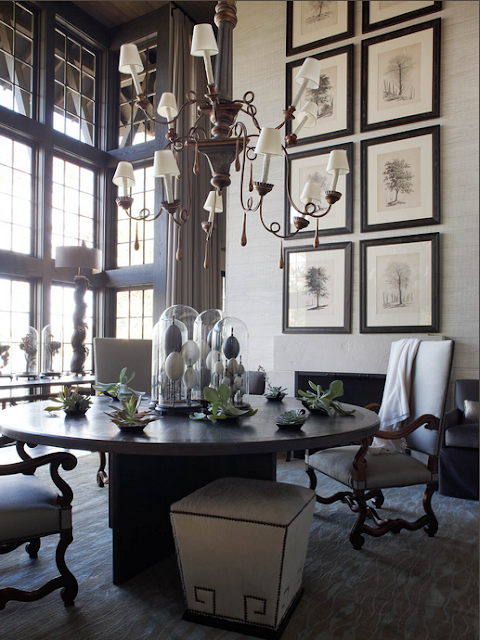 susan ferrier dining room with tall windows