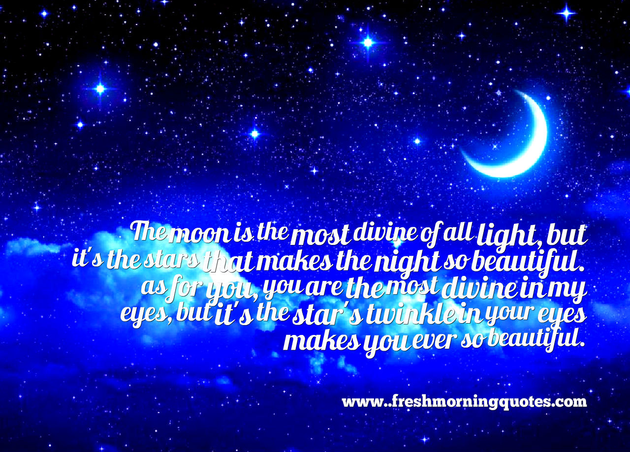 the moon is so beautiful like you
