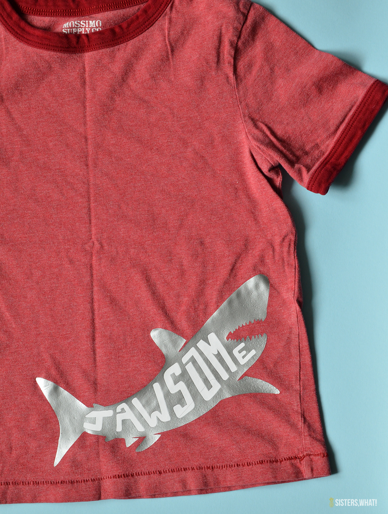 jawsome shark shirt for kids