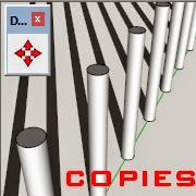 copies multiples dans SketchUp