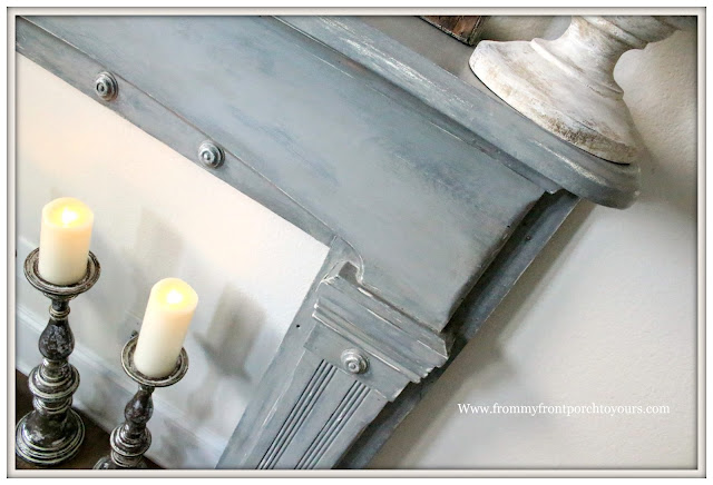 Vintage Fireplace Mantel Makeover-Magnolia Home Chalk Style Paint-Farmhouse Style-Paint Review-From My Front Porch To Yours