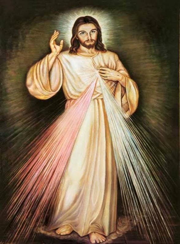 Resultado de imagem para imagem de jesus da irmã faustina