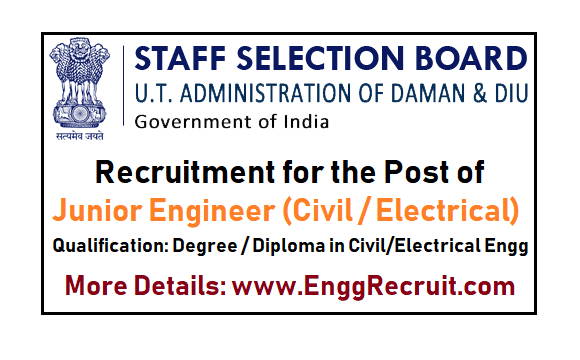Staff Selection Board (SSB) of UT Administration of Daman - Diu