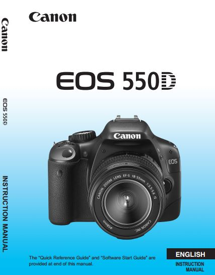 Canon eos 550d user guide.