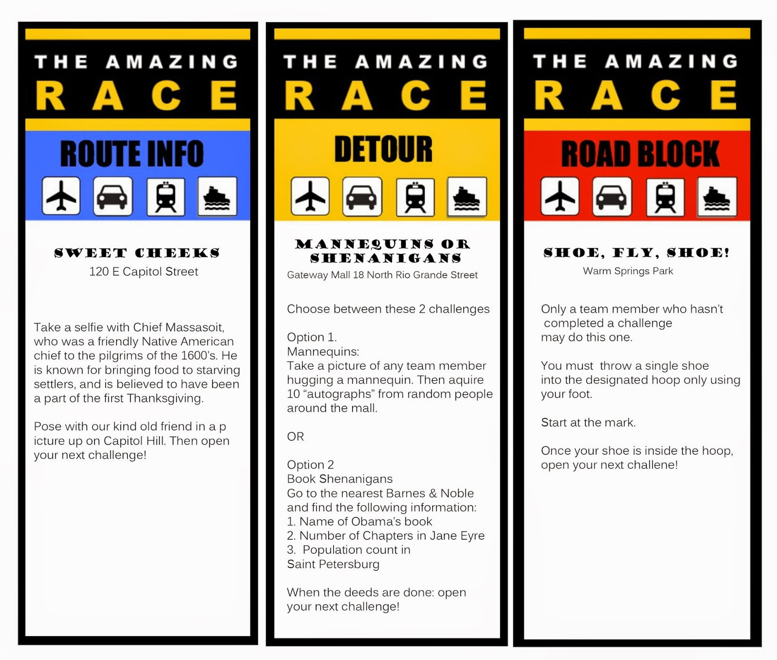 the amazing race clue template - amazing race clue cards template